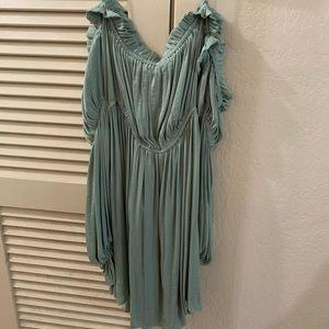 Mint green midi dress 1XL